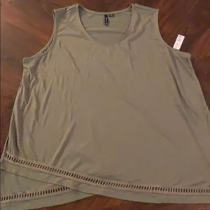 New Directions Olive Green Tank NWT